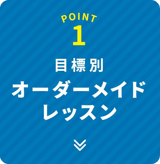 POINT 1 目標別オーダーメイドレッスン